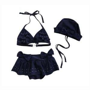Piece Swimsuits, Girls Bikini (Swimming Cap Free) Sports & Outdoors