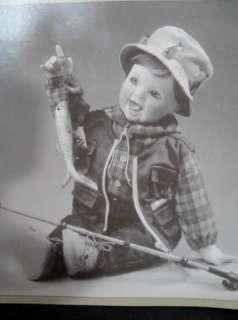 Ashton Drake What a Catch Porcelain Doll Id Rather Be Fishin