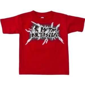 Metal Mulisha Electric Toddler Short Sleeve Sportswear Shirt   Red
