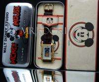 Rare Disney Comic Glazed Silhouette Mickey Mouse Watch