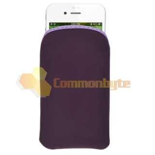 Flower Hard Case+Purple Bag for iPod Touch 3rd 2nd Gen