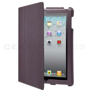 iPad 2 Magnetic Smart Cover Leather Case Stand Red