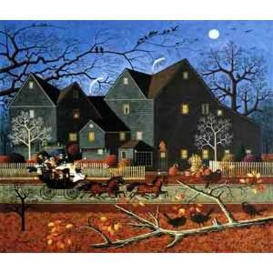 the House of Seven Gables Open Edition Canvas Giclee Home & Kitchen