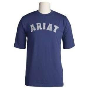 Ariat Mens Applique Logo Short Sleeve Tee Shirt  Sports