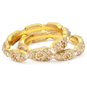 Chamak by priya kakkar 2 Peach Crystal Bangle Bracelet