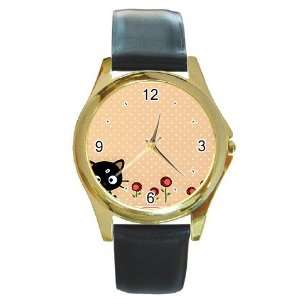 chococat black cat v3 Gold Metal Watch