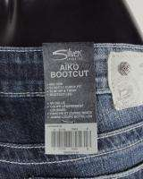 NWT Womens SILVER Jeans THICK S STITCH AIKO Boot Cut Mid Rise