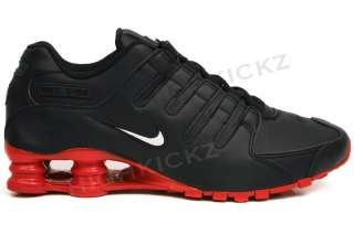 Shox NZ Black Red 378341 000 Mens New Running Shoes Size 7~13