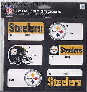 Pittsburgh Steelers Christmas Present Name Labels   Team Gift Stickers