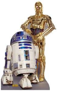 STAR WARS DROID R2 D2 C 3PD LIFESIZE CARDBOARD CUTOUT