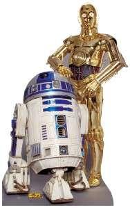 STAR WARS DROID R2 D2 C 3PD LIFESIZE CARDBOARD CUTOUT