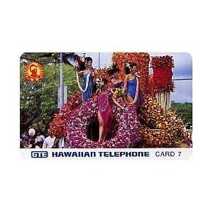 Collectible Phone Card 7u Aloha Festival Week Parade 1991