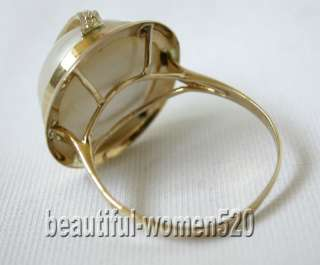 Mabe Pearl Ring 14k yellow Gold ring ,This a beautiful real pearls