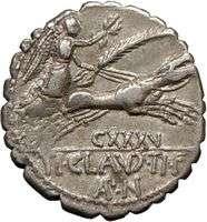 Roman Republic Claudius Nero DIANA Horse 79BC Ancient Silver Coin