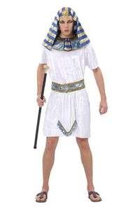 egyptian pharaoh man fancy dress costume male egypt white