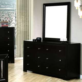 Contemporary Modern Black Queen King Bed 5 Pc Bedroom Set Furniture