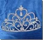 Silver Bridal Wedding Crown Pageant Prom Crystal Tiara 48739