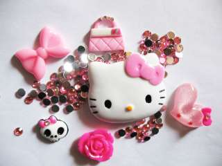 Pink Hello Kitty Bling Deco Resin Flatback DIY