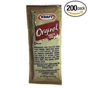 Kraft Barbecue Sauce, Original, 0.4375 Ounce Single Serve Packets