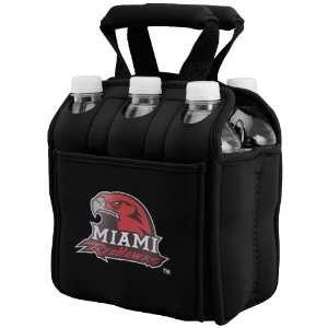 NCAA Miami University RedHawks Black 6 Pack Neoprene