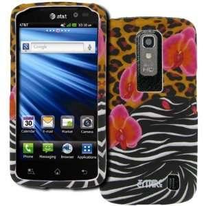 EMPIRE LG Nitro HD Rubberized Design Hard Case Cover (Orchid Safari