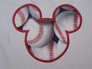 Personalized MICKEY MOUSE Baseball Print Birthday Shirt