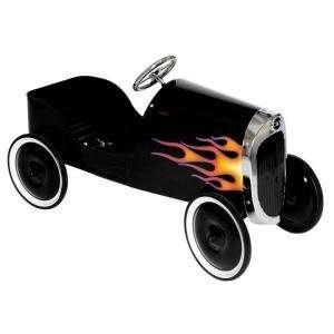 Charm Co 34 Classic Black Hot Rod Metal Pedal Car