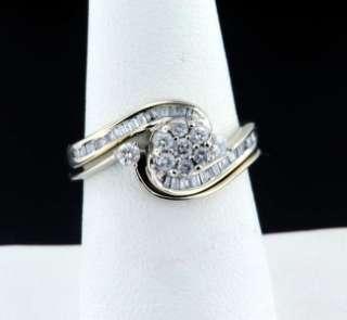 51 CARAT ROUND BRILLIANT DIAMOND CUT ENGAGEMENT WEDDING SET 14K WHITE