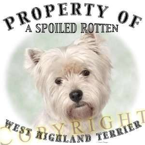West Highland Terrier Westie dog breed THROW PILLOW 16 x