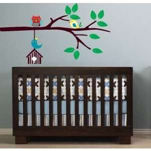Kids Tree Branch with Hanging Bird House Owl and Birds