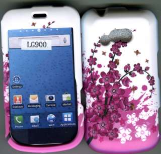LG 900G Net 10 TracFone net 10 Spring Flowers Hard Phone Case Cover