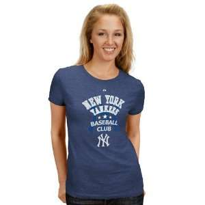 Majestic New York Yankees Ladies Navy Blue Baseball Club T