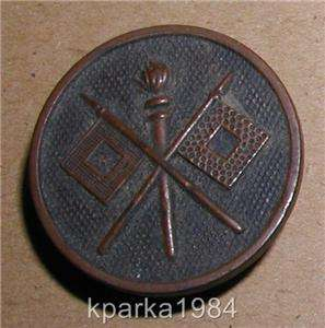 WWI ERA US ARMY ENLISTED COLLAR DISK   SIGNAL CORPS