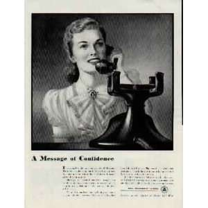the Nation in Peace and War .. 1942 Bell Telephone System Ad, A0812