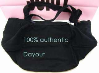 JUICY COUTURE MAKE MY HEART MELT CANVAS BLACK BEACH BOOK TRAVEL TOTE