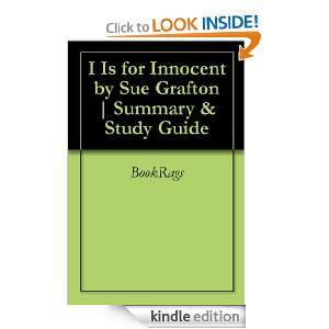 Is for Innocent by Sue Grafton  Summary & Study Guide BookRags