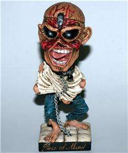 IRON MAIDEN Heavy Metal Band EDDIE Piece of Mind BOBBLEHEAD