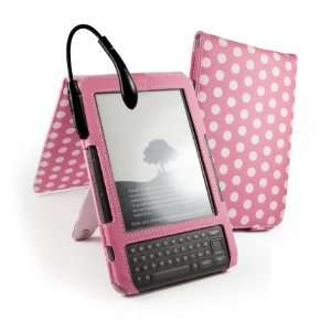 Juss Luv Polka Hot Faux Spark Leather Case Cover & Stand