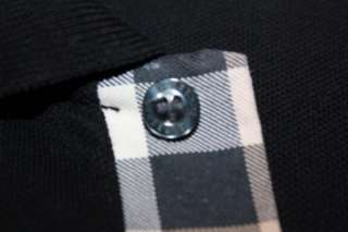 BURBERRY POLO SHIRT Nova Check BLACK POLO Authentic EUC Sz L