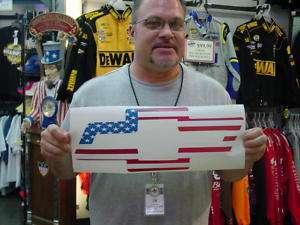 CHEVY BOWTIE USA AMERICAN FLAG VINYL DECAL   MEDIUM
