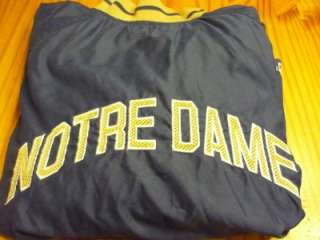 Notre Dame Football pullover wind jacket size adult Large L