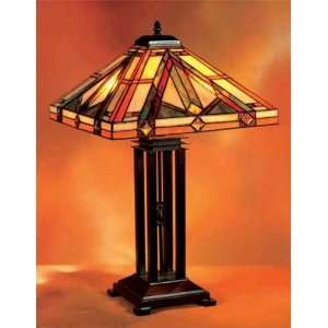 Tiffany Style Stained Glass Table Desk Lamp Mission T1819