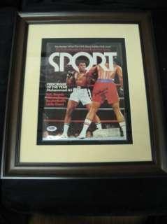 Muhammad Ali Framed Auto Magazine PSA/DNA Signature