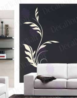 Floral Swirl Flower Removable Vinyl Wall Decal Sticker