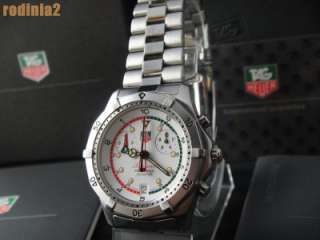 Auth Tag Heuer Mens Size Searacer Stainless Steel Wrist Watch Quartz