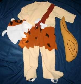 Rubies Flintstones BAM BAM COMPLETE Fleece Costume BOYS Toddler 2 2T 3