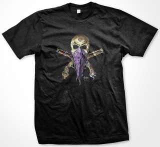 Alchemy England Gothic Skull Bandana Guns Mens T Shirt