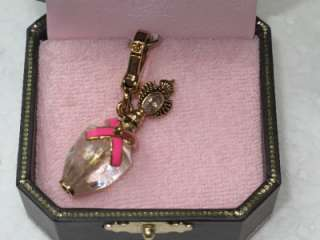 NIB JUICY COUTURE PERFUME BOTTLE CHARM PINK RIBBON