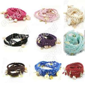 2012 Hot Fashion Multicolor Knit Shell Heart Rabbit Key Crystal Pearls