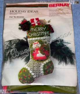 MRS. Claus CHRISTMAS Crewel Stitchery Stocking Kit